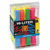 HI-LITER Desk-Style Highlighters, Chisel Tip, Assorted Colors, 12/Set