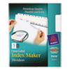 Print and Apply Index Maker Clear Label Dividers with Printable Label Strip and White Tabs, 5-Tab, 11 x 8.5, White, 1 Set