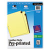 <strong>Avery®</strong><br />Preprinted Red Leather Tab Dividers w/Clear Reinforced Edge, 12-Tab, Ltr