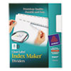 Index Maker Print & Apply Clear Label Dividers w/White Tabs, 8-Tab, Letter