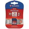 Verbatim® Premium SDHC Memory Card, Class 10, 16GB VER96808