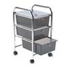 Advantus® Portable Drawer Organizer, 13w x 15 3/8d x 25 7/8h, Smoke/Matte Gray AVT34006
