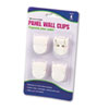 Advantus® Panel Wall Clips for Fabric Panels, Standard Size, White, 4/Pack AVT75300
