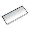 Advantus® People Pointer Wall/Door Sign, Aluminum Base, 8 3/4 x 4, Black/Silver AVT75390
