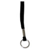 "Deluxe Lanyards, Ring Style, 36"" Long, Black, 24/Box"
