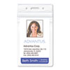 Advantus Resealable ID Badge Holder, Vertical, 2 7/8 x 4 5/16, Clear, 50/Pack - 75524