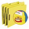 Top Tab Colored 2-Fastener Folders, 1/3-Cut Tabs, Letter Size, Yellow, 50/Box