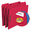 Top Tab Colored 2-Fastener Folders, 1/3-Cut Tabs, Letter Size, Red, 50/Box