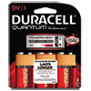 Duracell® Quantum Alkaline Batteries w/ Duralock Power Preserve Tech, 9V, 3/Pk, 36 PK/CT DURQU9V3BCD