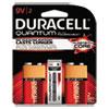 Duracell® Quantum Alkaline Batteries with Duralock Power Preserve Tech, 9V, 2/Pk, 36PK/CT DURQU9V2BCD