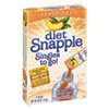 diet Snapple® Iced Tea Singles To-Go, Diet Peach Tea, 0.68 oz Stick, 72 sticks JLS33616