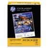 HP Color Laserjet Paper, 28 lb, Ultra White, 8 1/2 x 11, 500 Sheets/Ream HEW205050