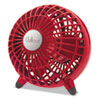 """Honeywell® Chillout USB/AC Adapter Personal Fan, Red, 6""""Diameter, 1 Speed HWLGF3R"""