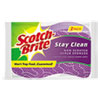 Scotch-Brite® Stay Clean Non-Scratch Scrub Sponges, 3 3/16 x 7/8 x 4 3/4, Purple, 3/Pack - 20203-8