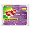 Scotch-Brite™ Stay Clean Non-Scratch Scrub Sponges, 3 3/16 x 7/8 x 4 3/4, Purple, 6/Pack MMM202066
