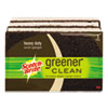 Scotch-Brite® Greener Clean Heavy-Duty Scrub Sponge, 2 7/10 x .75 x 4 3/5, Brown, 3/Pack - 87033