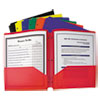 C-Line® Two-Pocket Heavyweight Poly Portfolio Folder, 3-Hole Punch, Letter, Assorted CLI33930