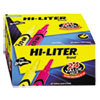 HI-LITER Desk-Style Highlighter, Chisel, Assorted Colors, 24/Pack