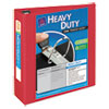 """Avery® Heavy-Duty View Binder w/Locking 1-Touch EZD Rings, 3"""" Cap, Red AVE79325"""