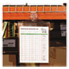 """C-Line® Magnetic Hanging Shop Ticket Holders, Clear, 75"""", 9 x 12, 15/Box CLI78912"""