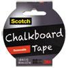 """Chalkboard Tape, 1.88"""" x 5 yds, Black"""