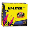 HI-LITER Desk/Pen-Style Combo Highlighter, Chisel/Bullet, Assorted Colors, 24/PK