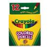 Crayola® Short Barrel Colored Woodcase Pencils, 3.3 mm, 12 Assorted Colors/Set CYO684112
