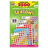 SuperSpots and SuperShapes Sticker Variety Packs, Seasons, 2,500/Pack