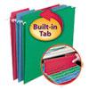 FasTab Hanging Folders, Letter Size, 1/3-Cut Tab, Assorted, 18/Box