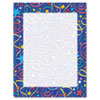 Geographics® Design Suite Paper, 24 lbs., Star Confetti, 8 1/2 x 11, Royal Blue, 100/Pack GEO46901S
