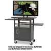 BALT® Height-Adjustable TV Cart, Four-Shelf, 24w x 18d x 62h, Black (Box 1 of 2) BLT27530