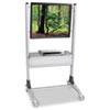 """Balt TV Stand - 67"""" Height x 35"""" Width x 25.5"""" Depth - Steel - Silver BLT27544"""