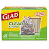 Glad® Recycling Tall Kitchen Trash Bags, Clear, Drawstring, 13 gal, 45/BX, 4 BX/CT CLO78543CT