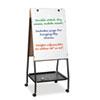 Best-Rite® Wheasel Easel Adjustable Melamine Dry Erase Board, 28 3/4 x 59 1/2, White BLT33250