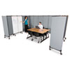 "Balt 6' Great Divide Sys. 2-Panel Gray Add-on Set - 64"" Width x 1.25"" Depth x 72"" Height - Fabric -  BLT74769"