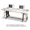 BALT® Split-Level Computer Training Table Top, 72 x 36, (Box One) BLT83080