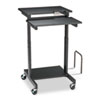 Web A/V Stand-Up Workstation, 34w x 31d x 44-1/2h, Black