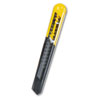 Straight Handle Knife w/Retractable 13 Point Snap-Off Blade, Yellow/Gray