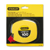 "<strong>Stanley®</strong><br />Long Tape Measure, 1/8"" Graduations, 100ft, Yellow"