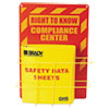 <strong>LabelMaster®</strong><br />SDS Compliance Center, 14w x 4.5d x 20h, Yellow/Red