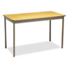 Barricks Utility Table, Rectangular, 48w x 24d x 30h, Oak/Brown BRKUT244830LQ