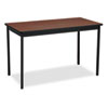 <strong>Barricks</strong><br />Utility Table, Rectangular, 48w x 24d x 30h, Walnut/Black