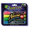 <strong>Quartet®</strong><br />Neon Dry Erase Marker Set, Broad Bullet Tip, Assorted Colors, 4/Set