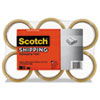 "Scotch® 3350 General Purpose Packaging Tape, 1.88"" x 54.6yds, 3"" Core, Tan, 6/Pack - 3350T-6"