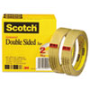 """DOUBLE-SIDED TAPE, 3"""" CORE, 0.75"""" X 36 YDS, CLEAR, 2/PACK"""
