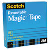 "Removable Tape, 3/4"" x 1296"", 1"" Core, Transparent"
