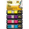 "<strong>Post-it® Flags</strong><br />Small Page Flags in Dispensers, 0.5"" x 1.75"", Four Colors, 35/Color, 4 Dispensers/Pack"