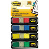 "<strong>Post-it® Flags</strong><br />Small Page Flags in Dispensers, 0.5"" x 1.75"", Assorted Primary, 35/Color, 4 Dispensers/Pack"