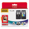 <strong>Canon®</strong><br />5206B005 (PG-240XL; CL-241XL) High-Yield Ink/Paper Combo, Black/Tri-Color