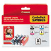 <strong>Canon®</strong><br />4479A292 (BCI-3E/BCI-6) Ink and Paper Combo Pack, Black/Cyan/Magenta/Yellow